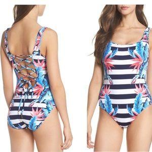 Tommy Bahama Palms of Paradise One Piece Swim Sz 4
